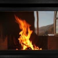 fuoco con  panorama sauris